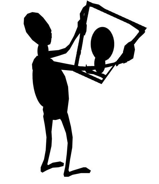 Self Reflection Clipart.
