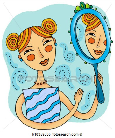 Mirror Reflection Clip Art.