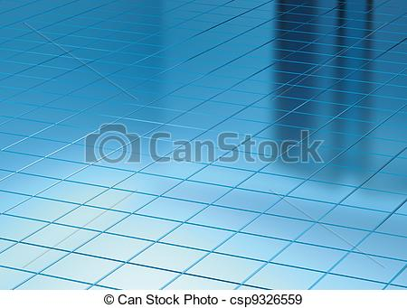 Stock Illustration of Blue Floor and Window reflect.
