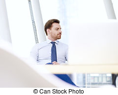 Stock Photo of Young executive reflected in a window csp10392443.