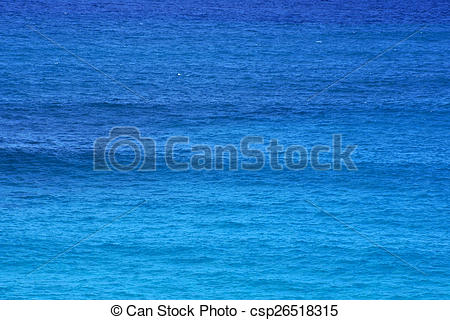 Clipart of Shades of Blue Ocean Water ripples off the Windward.