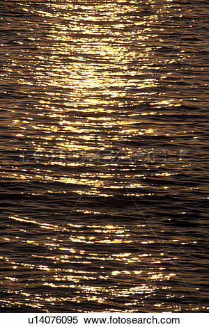 Stock Image of Sunlight Reflecting Off Rippling Water u14076095.