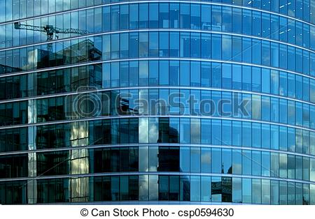 Stock Photography of Window reflections.