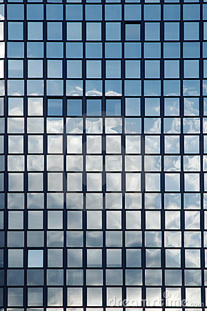 Reflection In Mirror Windows Stock Images.