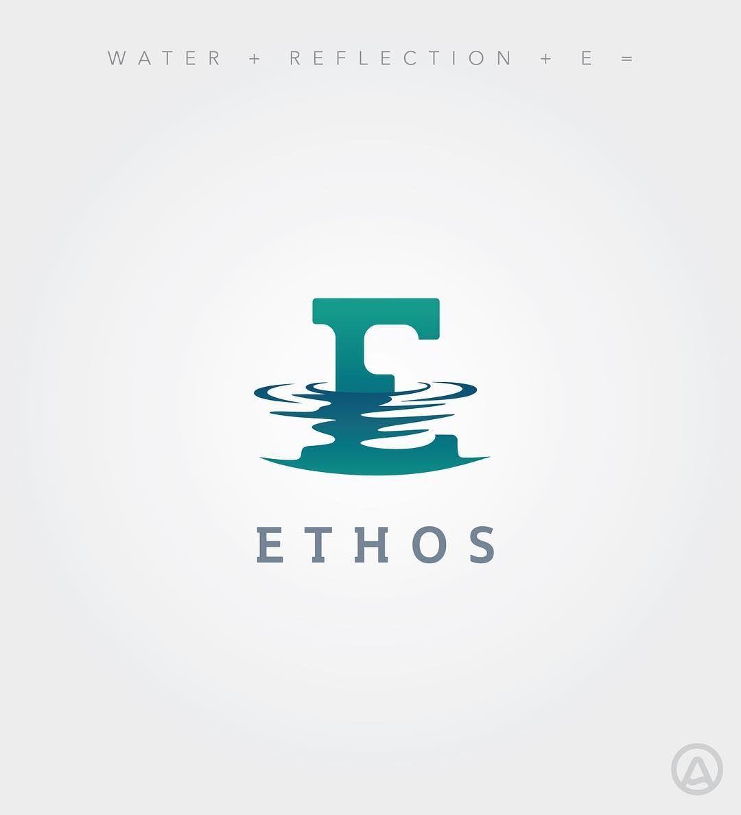Ethos logo more organic feel to water reflection. #logo.