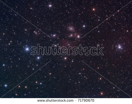 Ngc 2170 Reflection Nebula Constellation Monoceros Stock Photo.