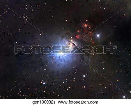 Stock Images of NGC 1333, a reflection nebula and part of the.