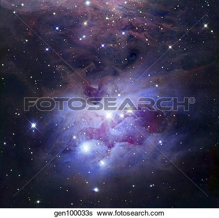 Stock Images of NGC 1977 is a reflection nebula northeast of the.