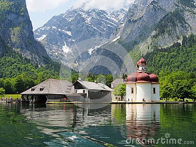Koenigssee Near Berchtesgaden, Germany Stock Photo.