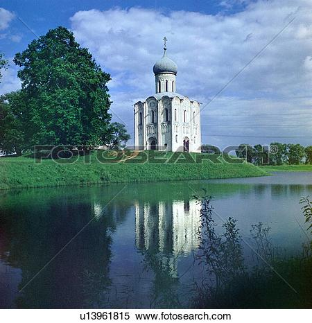 Stock Image of The Church of the Intercession of the Holy Virgin.
