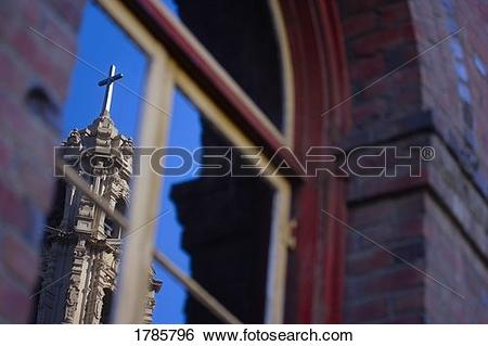 Stock Images of Church reflection 1785796.