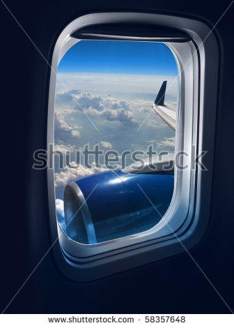 Airplane Window Stock Photos, Royalty.