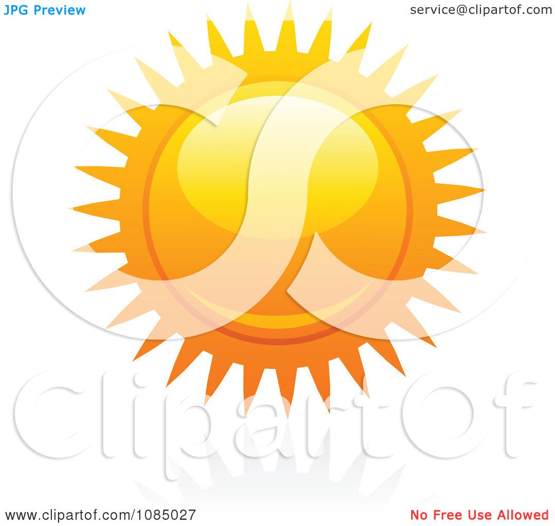 Clipart Hot Summer Sun And Reflection 15.