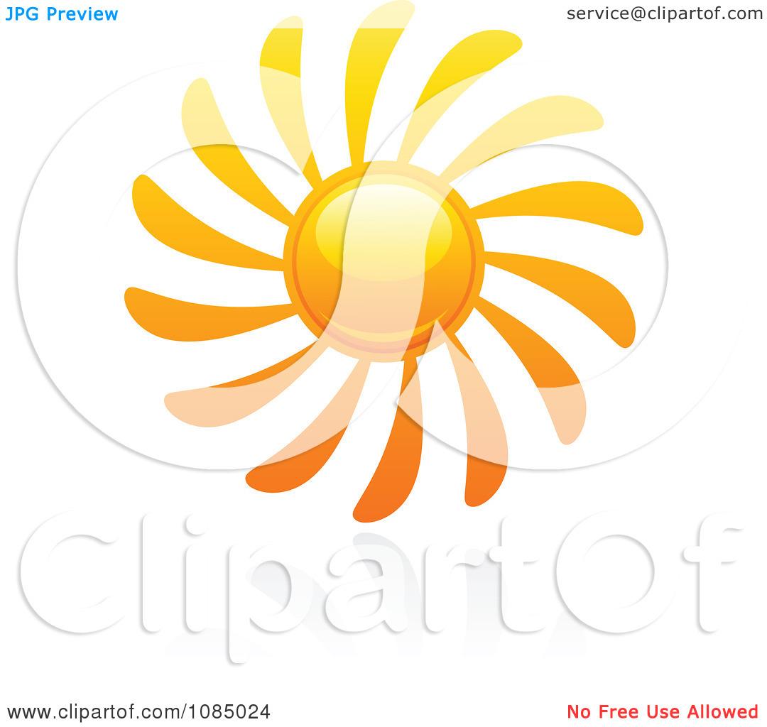 Clipart Hot Summer Sun And Reflection 7.