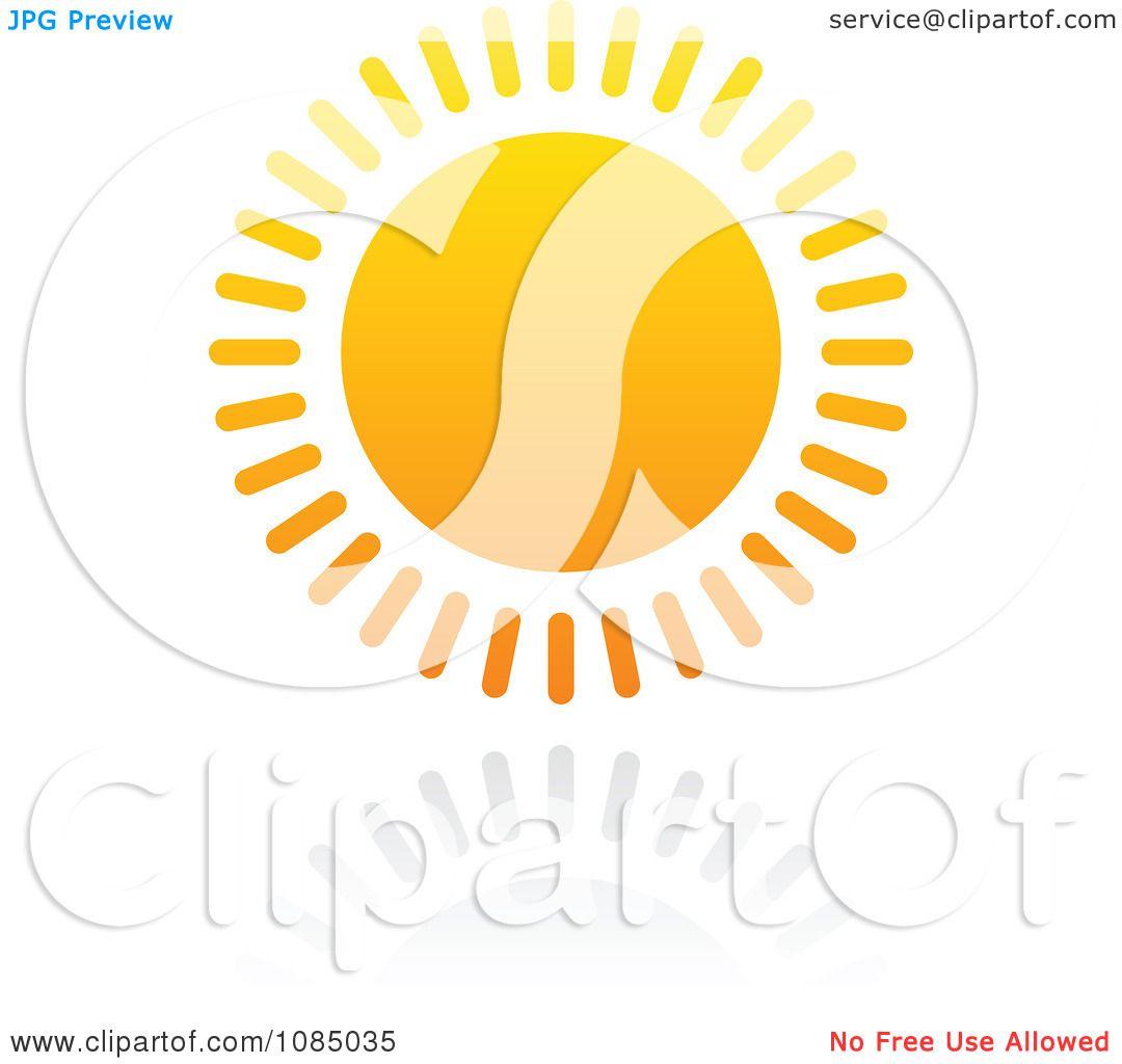 Clipart Hot Summer Sun And Reflection 4.