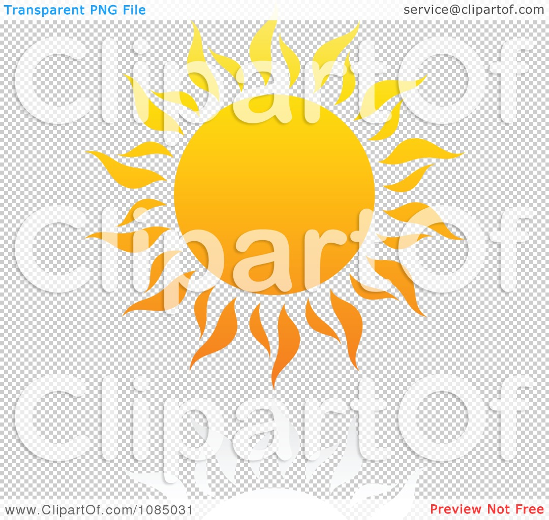 Clipart Hot Summer Sun And Reflection 1.