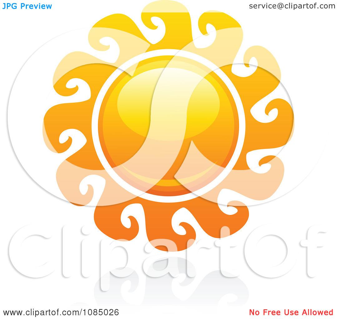 Clipart Hot Summer Sun And Reflection 14.
