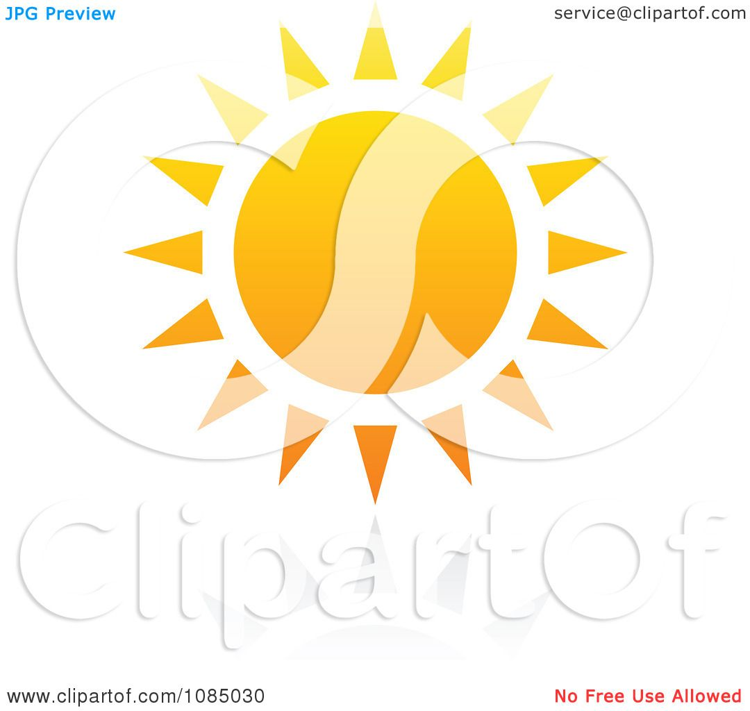 Clipart Hot Summer Sun And Reflection 2.