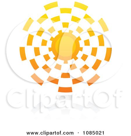 Clipart Hot Summer Sun And Reflection 1.