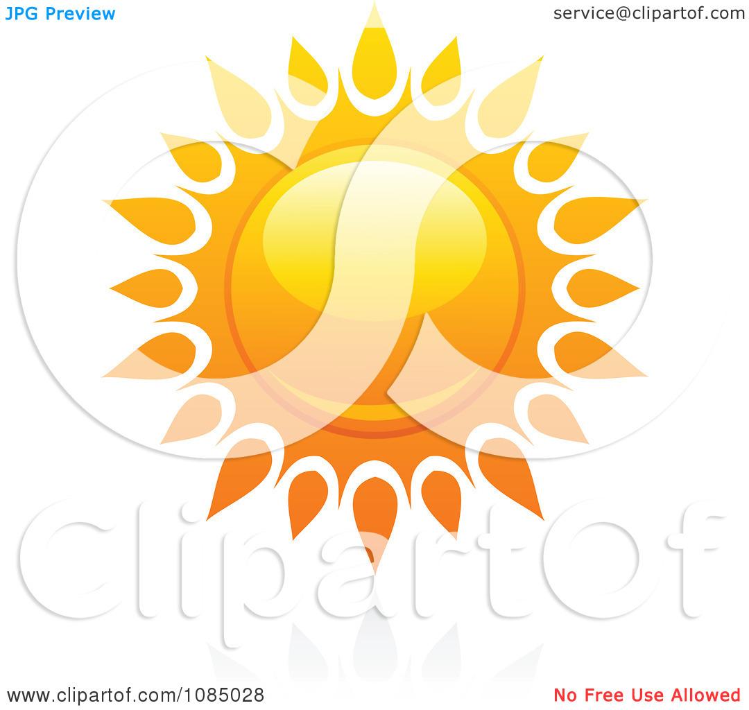 Clipart Hot Summer Sun And Reflection 13.