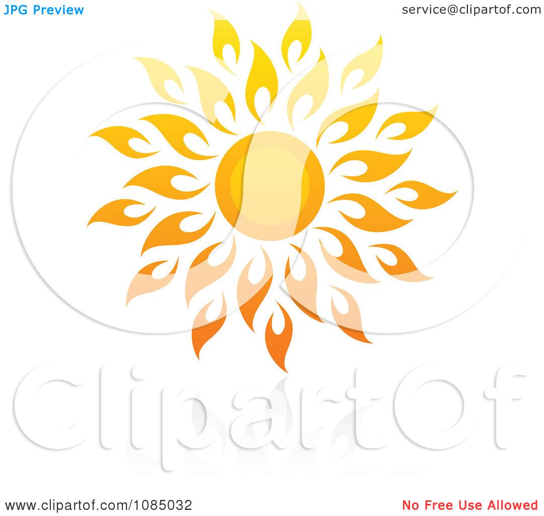 Clipart Hot Summer Sun And Reflection 10.