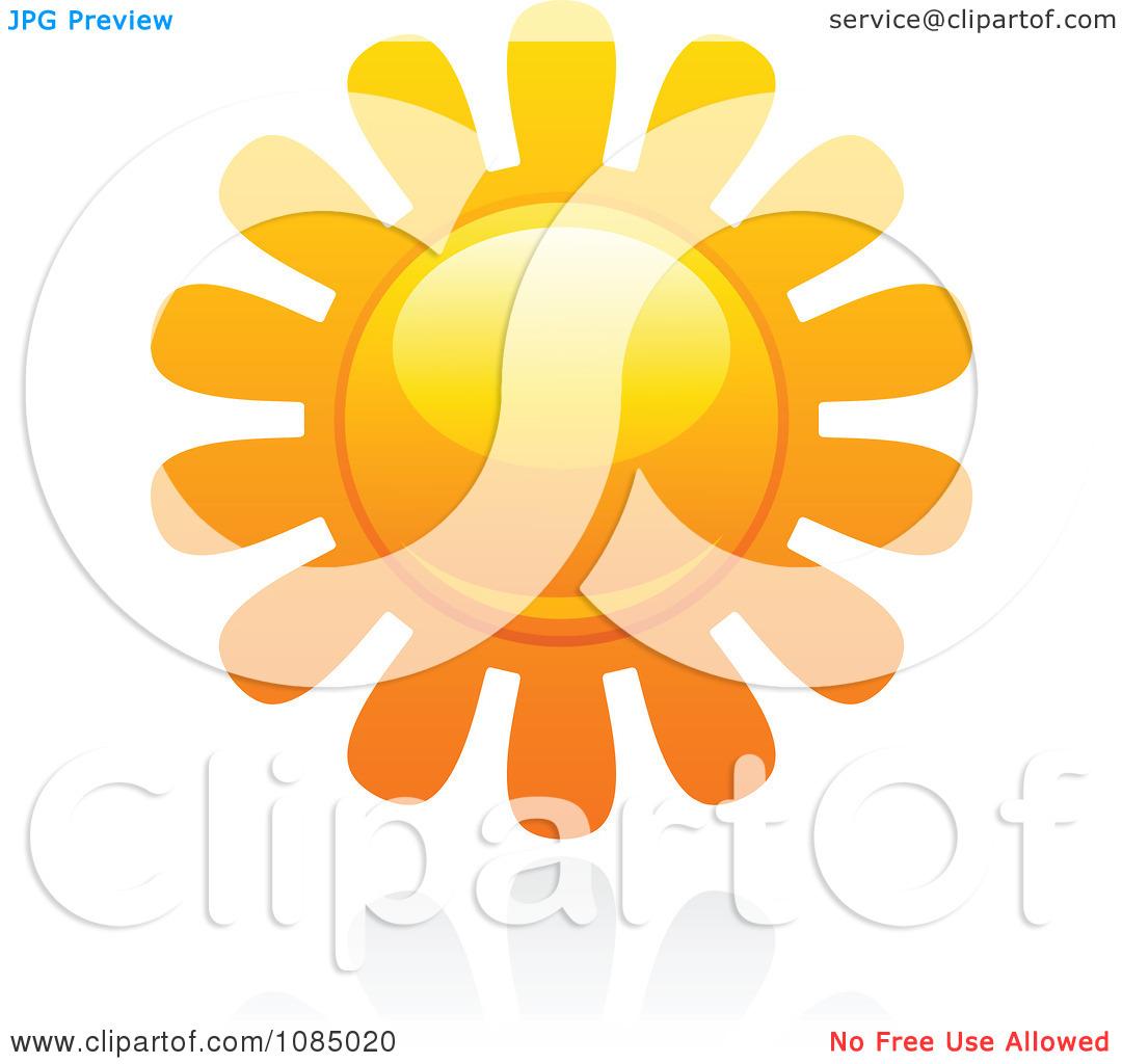 Clipart Hot Summer Sun And Reflection 16.