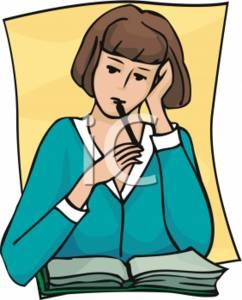 Teacher Reflection Clipart.