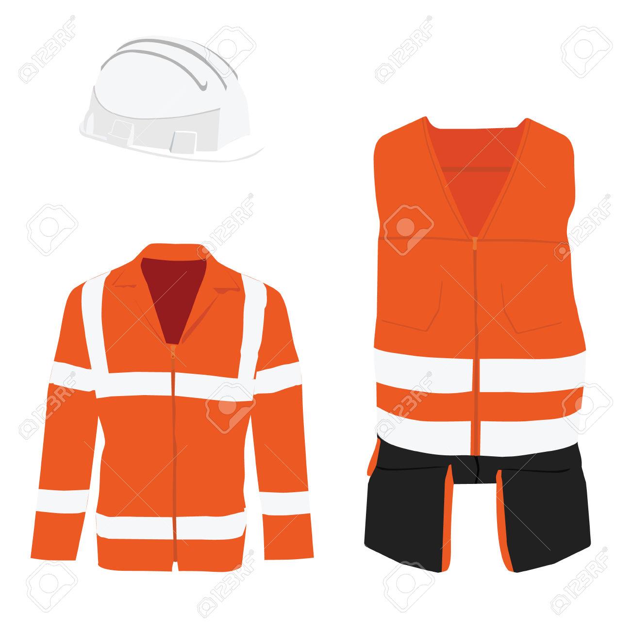 Orange Safety Jacket. Worker Clothing. Safety Clothing. Protective.