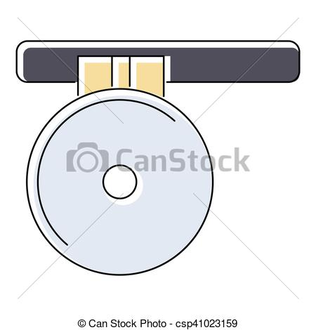 Clipart Vector of Headlamp reflector icon, flat style.