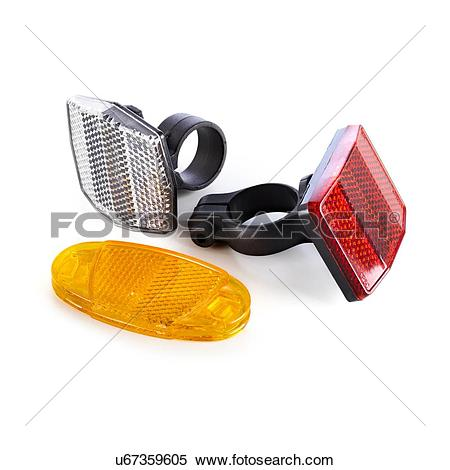 Stock Illustration of Bicycle reflectors against a white.