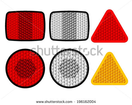 Vector Safety Reflectors Red White Orange.