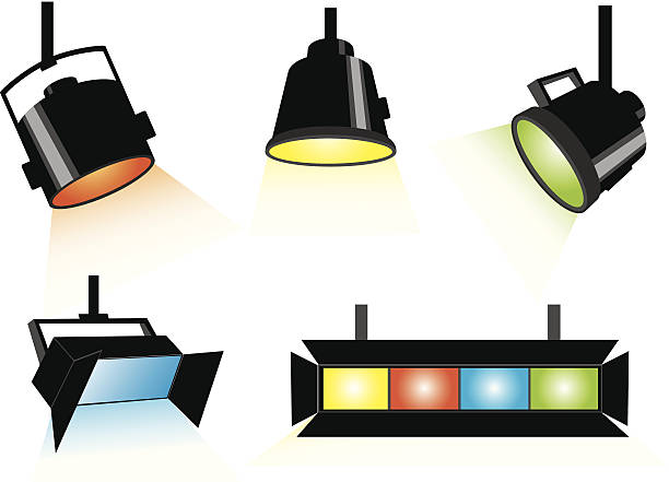 Reflectors Theatre Clip Art, Vector Images & Illustrations.