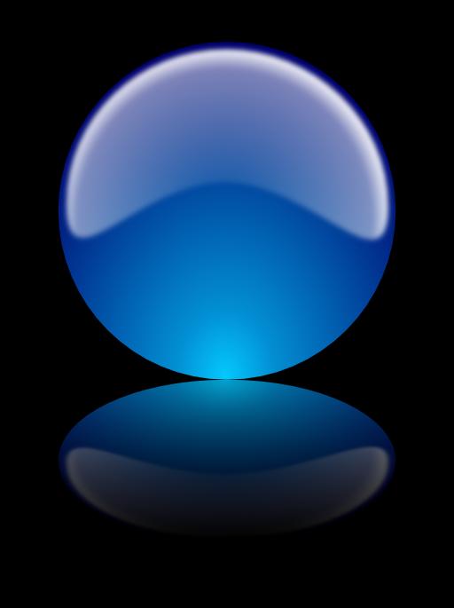 Glossy Sphere W Reflex Esfera Brillante Con Reflejo Clipart.