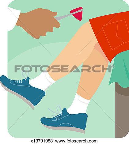 Stock Illustration of Doctor testing boy's (8.
