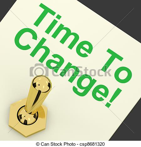 Stock Photography of Time To Change Switch Meaning Reform And.