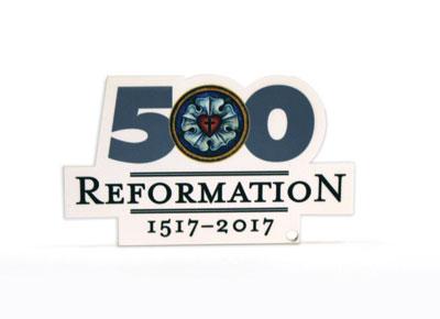 Reformation 500 Lasercut Magnet.