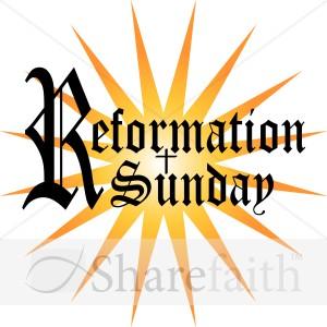 Reformation Sunday Word Art.