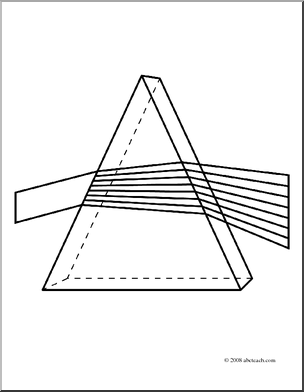Of 1 Coloring Page Refraction Coloring Color Prism Rainbow Science.