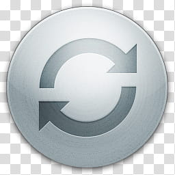 IVista round gray refresh icon transparent background PNG.