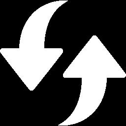 White refresh icon.