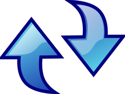 Reload Icon Blue Symbol Circle Arrows Refresh Update Clipart.