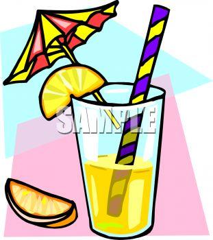 Cocktail with a Lemon Garnish.