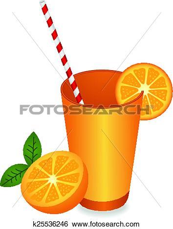 Clip Art of Orange Juice Summer Refreshment k25536246.