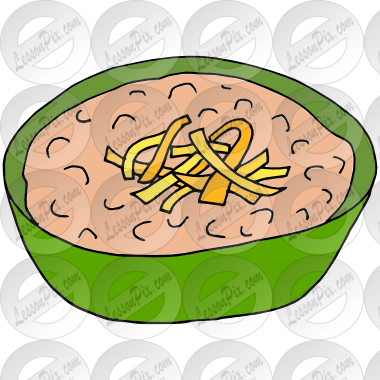 Refried Beans Picture for Classroom / Therapy Use.