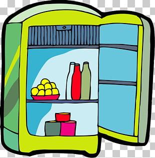 Refrigerador pintado a mano PNG cliparts descarga gratuita.