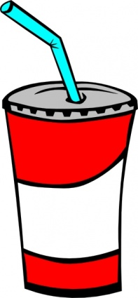 Soft Drink In A Cup clip art Clipart Graphic.