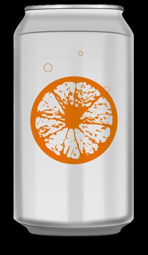Imagem vetorial de lata de refrigerante de laranja.