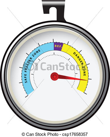 Clipart Vector of Refrigerator Thermometer.
