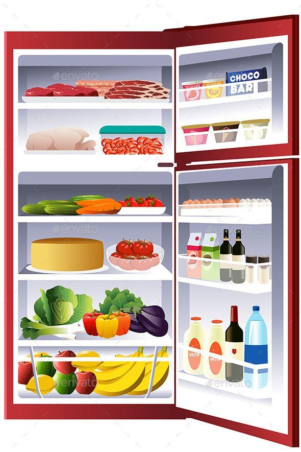 Inside of a Refrigerator (CS, cake, cartoon, clip.