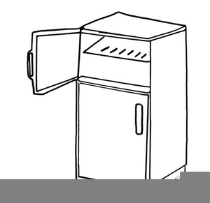 Clean Refrigerator Clipart.